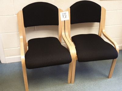 2 - wooden framed chairs …