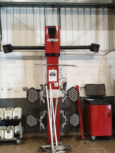 Hunter DSP600 suspension and wheel alignment jig with diagnostic computer,  4 tonne 4 post ramp with Ravagnolli, 2 tonne…