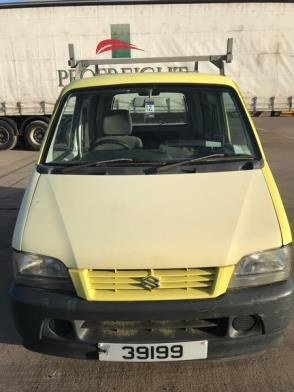 A Suzuki Carry 1.3 Petrol Panel Van Reg 39199; 74,180 Rec miles; needs new starter motor