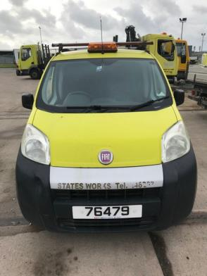 A Fiat Fiorino Petrol Engine Van Reg 76479; 59,435 Rec miles; tight gear cables & engine management light on
