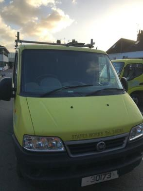 A Fiat Ducato Diesel Panel Van Reg 30173; 59,950 Rec miles; runs but needs new radiator
