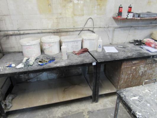 2 Steel Work Benches