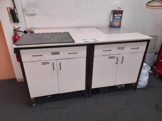 2x Cupboard units with contents