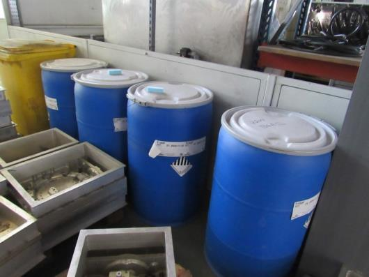 4 Drums of various Raw Polystyrene Bead, inc T180F, 40 to 50 US mesh