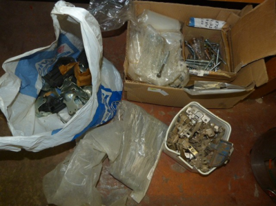 Box of Assorted Screws and Fittings