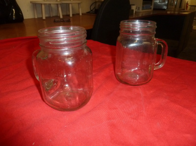 *glass mason jars with handle approx. 30