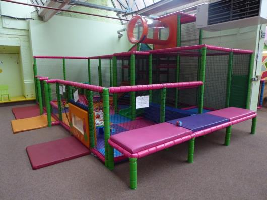 *Under 3 play zone - younger kids soft play castle construction, multi level, slides, towers, domes,