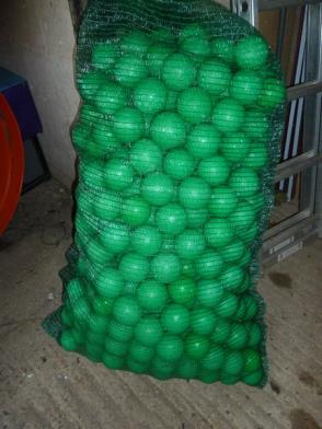 *very large quantity ball pool balls - individually cleaned (approx 30,000)