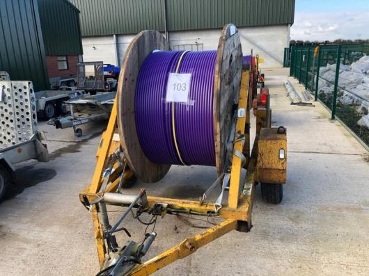 Cable drum trailer, serial no. C751-16-030 (includes cable drum)