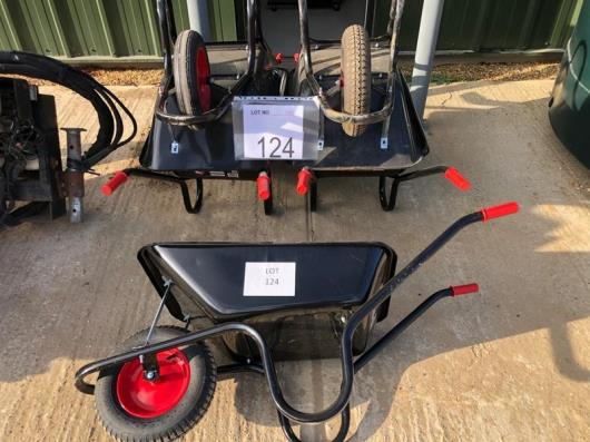 5 x wheel barrows as lotted