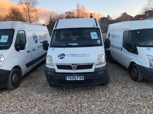 Vauxhall Movano 3500 DI MWB panel van, registration no. YG06 FXD, Date of first registration. 01/03/2006, 86,159 miles, MOT Expired 15/12/2020