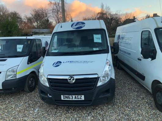 Vauxhall Movano F3500 L3H2 CDTI panel van, registration no. DN63 AGZ, Date of first registration. 22/11/2013, 80,361 miles, MOT Tested Till 28/08/2021