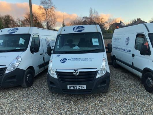 Vauxhall Movano F3500 L3H2 CDTI panel van, registration no. DY63 ZYN, Date of first registration. 14/11/2013, 93,571 miles, MOT Expired 19/11/2020