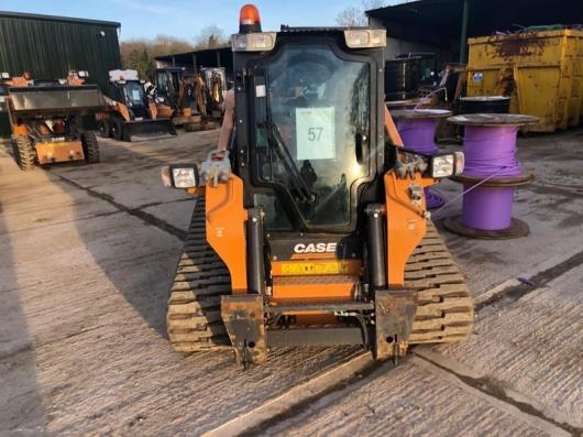 Case model TV380 tracked loader, with water suppression system, piped for attachments, serial no. NGM419860, 687.2 hrs, Year - 2016