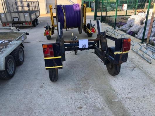 Single axle cable drum trailer, serial no. 9547, Year -  2005