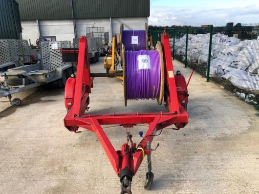 Cable drum trailer, serial no. 510229, Year -  2003 TWS (includes cable drum)