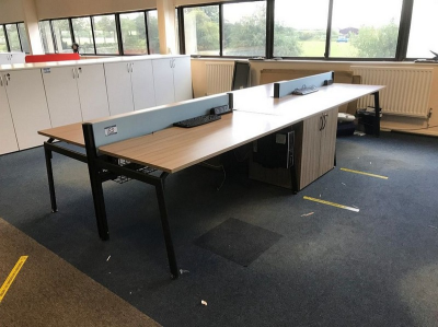 4 Place Pod Desk (IT Equipment Excluded)…