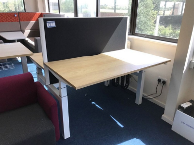 Double Sided Desk, Height Adjustable…