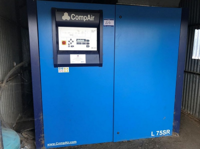 Compair Model Delcos 3100 LSR-13A Packaged Air Compressor, Serial No. 100009113 / 0139 (2007), Recorded Hours…
