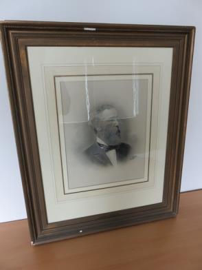 Framed Photograph of James C Marshall, Founder of Cottage House, Signed (22in x 27in) (Damage to Frame)