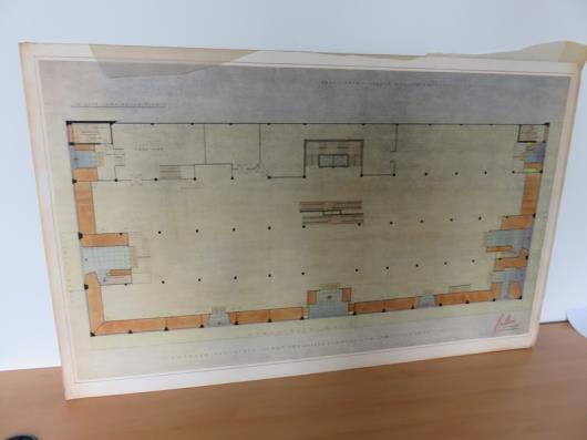 Design Drawing for Proposed New Store Front (38in x 24in)