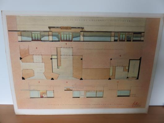 Design Drawing for Proposed New Store Front (39in x 28in)