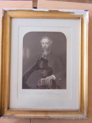 Framed Painting of Mr James C Marshall, Son of One of the Founders of Marshall and Snelgrove (20in x 25in) (Damaged Frame)