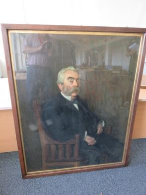 Framed Painting of Gentleman Seated (42in x 51in)
