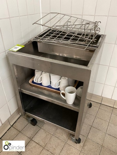 Stainless steel Crockery / Cutlery Trolley (located in Tray Wash Room, Basement) **** please note this lot needs to be c…
