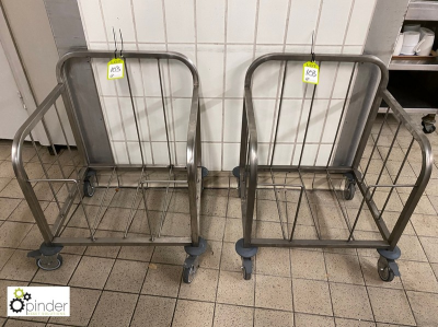2 Tray Collection Trolleys (located in Tray Wash Room, Basement) **** please note this lot needs to be collected either …