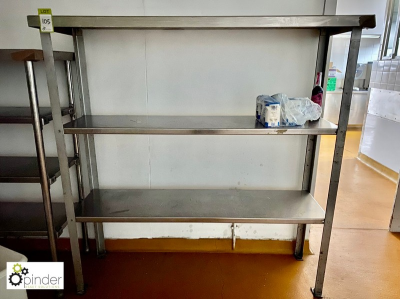 Stainless steel 3-shelf Rack, 1650mm x 610mm (located in Rear Store Room, Basement) **** please note this lot needs to b…