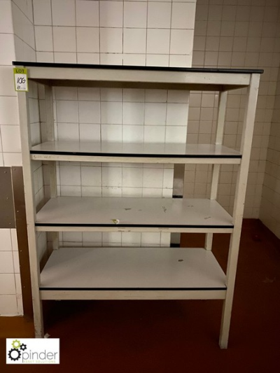 4-shelf Rack, 1220mm x 550mm (located in Rear Store Room, Basement) **** please note this lot needs to be collected eith…