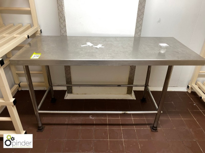 Stainless steel Preparation Table, 1520mm x 630mm (located in Rear Walk In Fridge, Basement) **** please note this lot n…