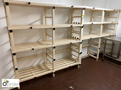 4 plastic Food Racks, approx. 1800mm x 500mm (located in Rear Walk In Fridge, Basement) **** please note this lot needs …