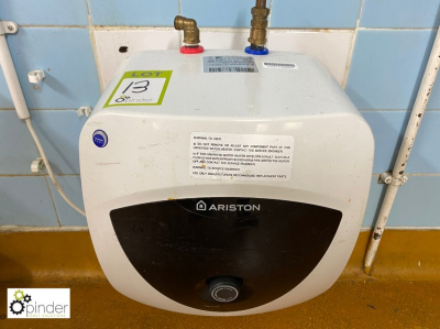 Ariston New Euro Prisma 15UR 3kw Water Heater (located in Main Kitchen, Basement) **** please note this lot needs to be …