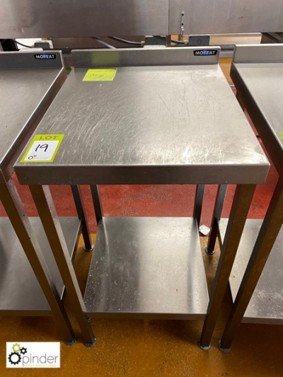 Moffat stainless steel side Preparation Table, 500mm x 600mm (located in Main Kitchen, Basement) **** please note this l…