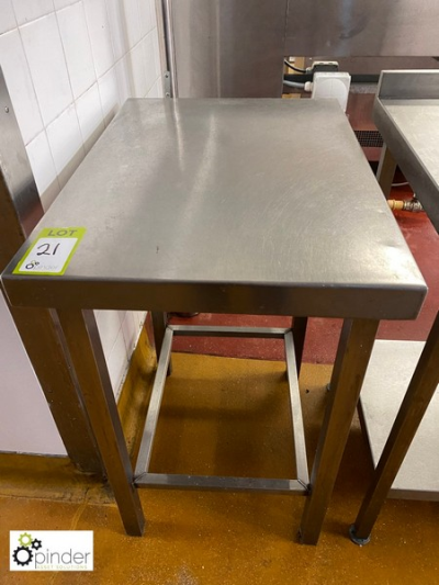Stainless steel Preparation Table, 750mm x 530mm (located in Main Kitchen, Basement) **** please note this lot needs to …