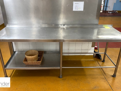 Stainless steel Preparation Table, 2290mm x 720mm, with rear lip (located in Main Kitchen, Basement) **** please note th…