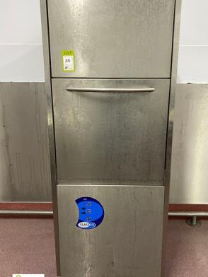 Class EQ mobile stainless steel Commercial Dishwasher, 415volts (please note there is a lift out fee of £10 plus VAT on …