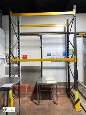 2 bays Link 51M Pallet Racking, 4 uprights 3700mm x 1100mm and 8 beams 2250mm (please note there is a lift out fee of £4…