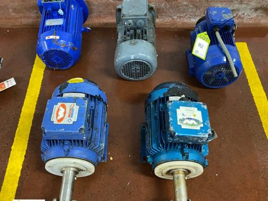 5 various Electric Motors, 2.2kw, 3kw, etc (please note there is a lift out fee of £10 plus VAT on this lot)…