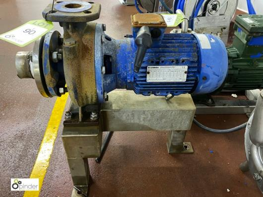 Stand mounted Pump, with Lowara 3kw motor (please note there is a lift out fee of £5 plus VAT on this lot)…