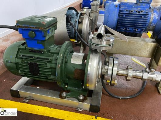 Verdermag 350.000149 stainless steel Magnetic Drive Pump, flow 1.6m³/hr, year 2017, with Weg electric motor, 3kw (please…