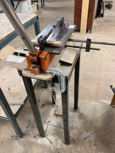 Notting manual rule bending machine with steel stand