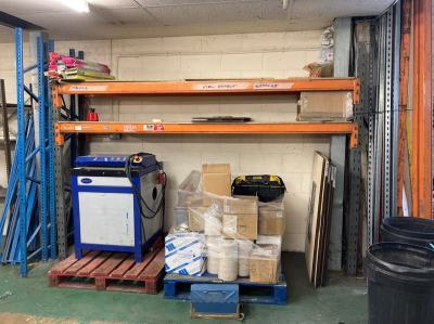 (2) Bays of pallet racking & quantity of dismantled racking