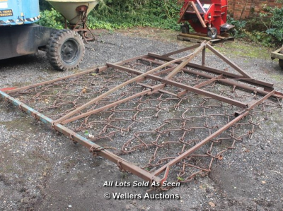 CHAIN HARROWS - APPROX 9 FT…