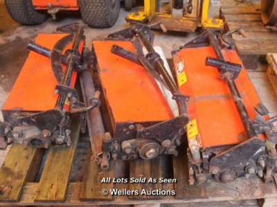 "X3 GANG MOWERS - APPROX 32""…"