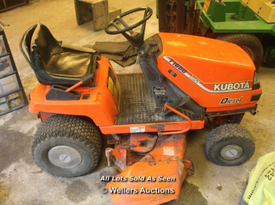 KUBOTA T1600 RIDE ON MOWER - BRAND NEW BATTERY -RUNNER…