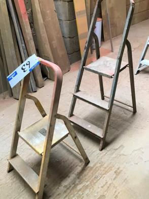 2 Sets of Alloy Platform Stepladders, 3 rise and 2 rise.…