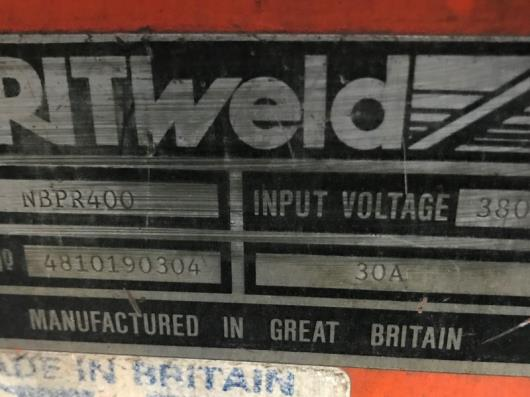 A Britweld Butters PRO-MIG400 Model NBPR400 Mig Welding Rectifier, 3 phase.…